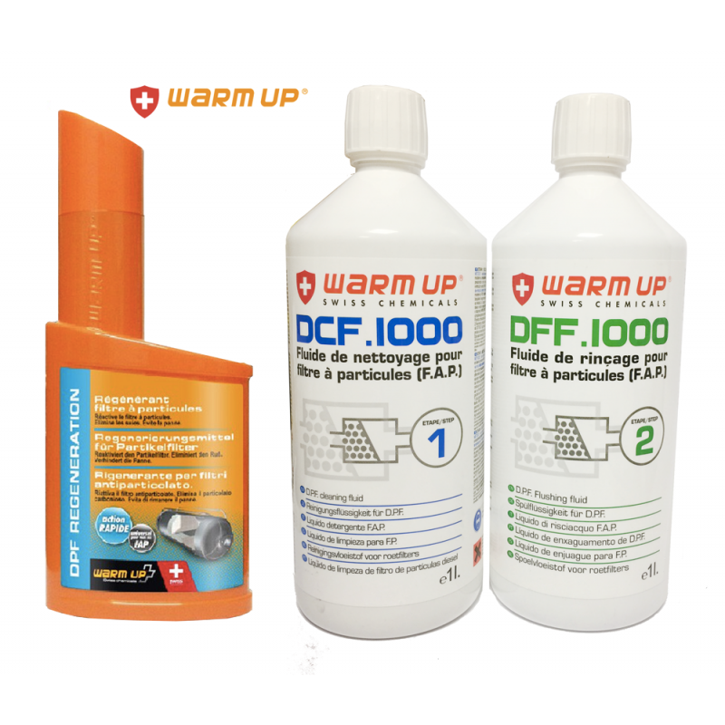 WARM UP DPF Chemicals Kit